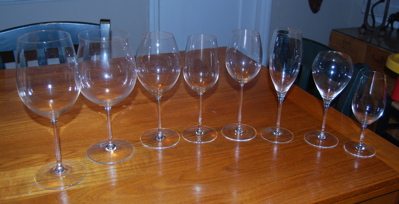 choosing wine glasses