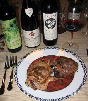 food and wine tasting